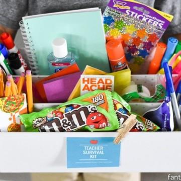 Teacher Survival Kit - Teacher Gift Idea https://fantabulosity.com