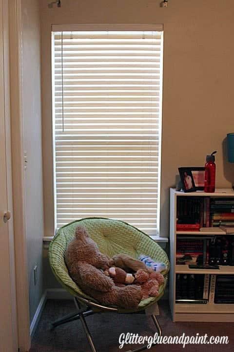 DIY Stenciled Canvas Curtains