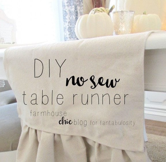 DIY No Sew Table Runer https://fantabulosity.com