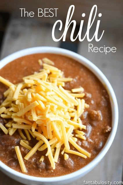 quick and easy chili recipe! This is the best alone or the perfect base to experiment and get crazy with!
