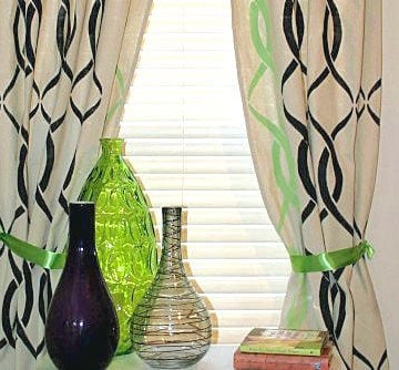 Stenciled Canvas Curtains