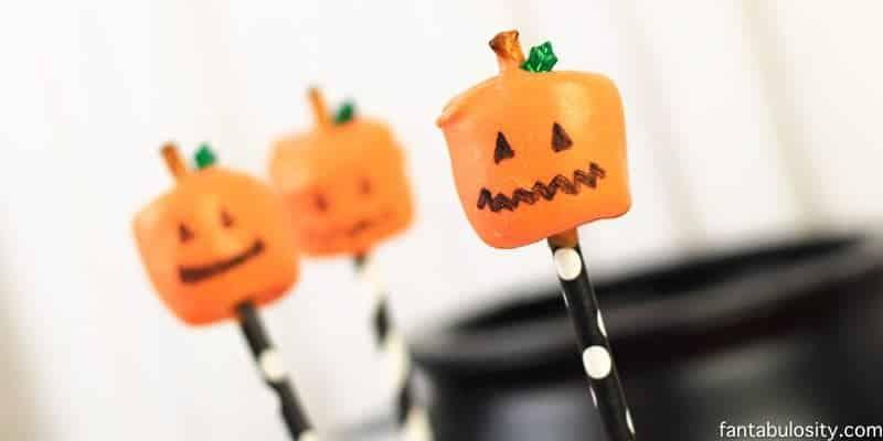 Jack-O-Lantern Marshmallow Pops