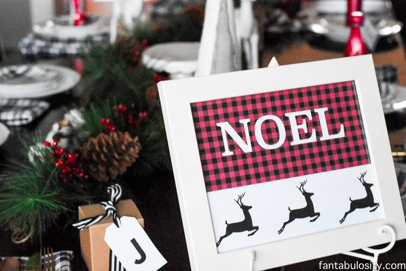 Buffalo Plaid NOEL Free Printable