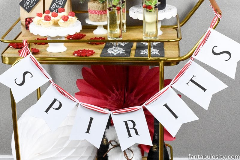 Spirits and Sparkles Party Theme! Red, white and black
