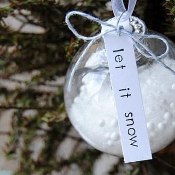 Let it snow, DIY Christmas Ornament. Ornament exchange idea