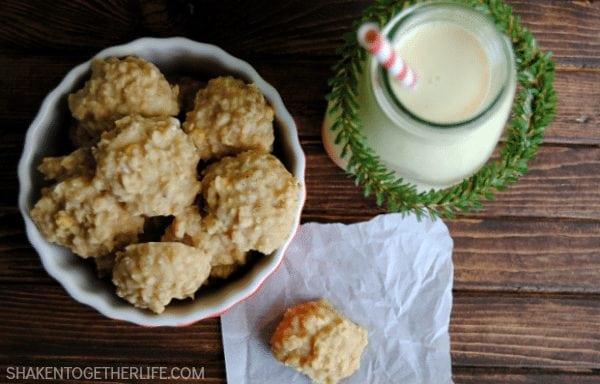 No Bake Eggnog Cookies from Shaken Together