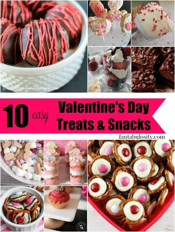 10 Valentines Day Snacks & Treats Recipe Ideas Fantabulosity.com