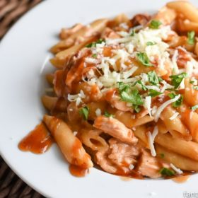 My husband said that I HAVE to make this again. It's so easy, so SURE! BBQ Chicken Pasta Recipe