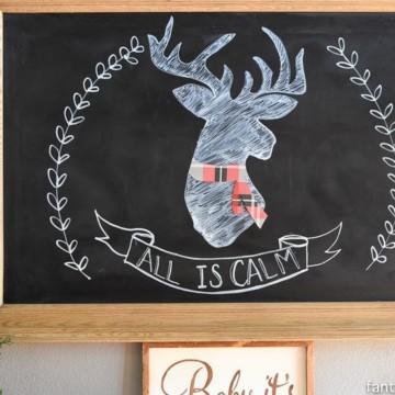 How to clean a chalkboard: my Christmas chalkboard art