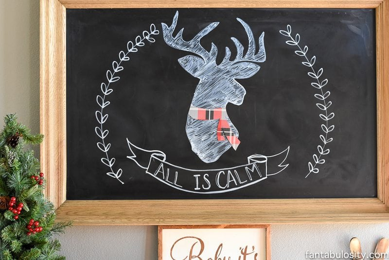 How to clean a chalkboard: my Christmas chalkboard art