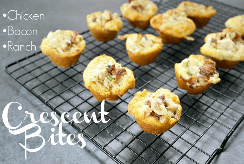 Ahhh! Yum!! These look AH-MAZING and EASY! Chicken Bacon Rance Crescent Bites