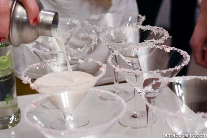 Martini Bar Ideas White Chocolate Peppermint fantabulosity.com