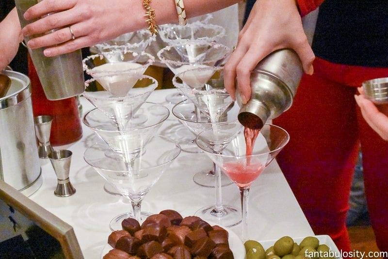 Martini Bar Ideas Red Apple Martini fantabulosity.com