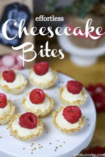 Holy Cow these are cute! Effortless Cheesecake Bites