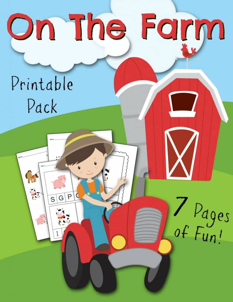 On the Farm Free Printable Kids