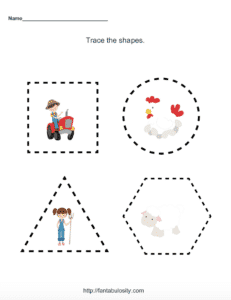 On the Farm - Free Printable Kids Activity Sheets