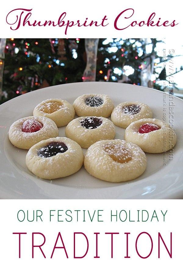 Thumbprint Christmas Cookies