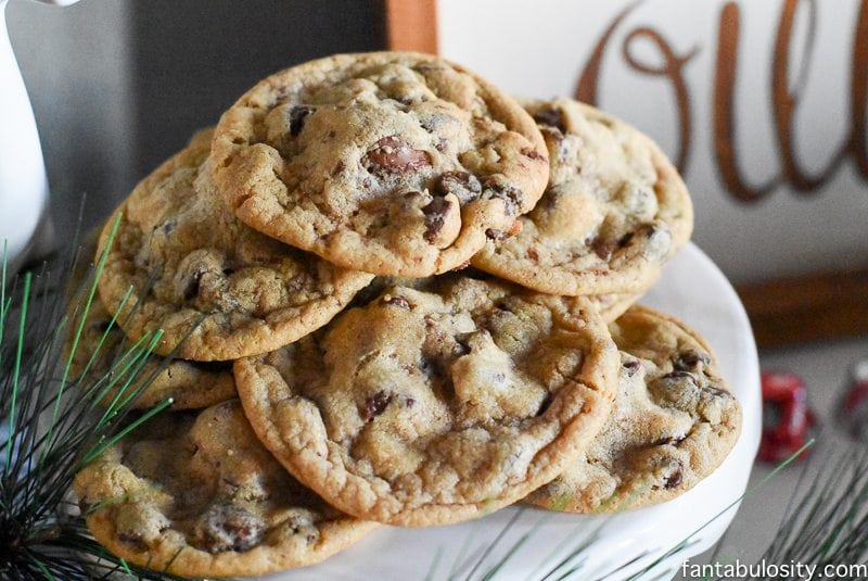 Chocolate Chip Surprise Crunch Cookies