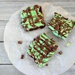 Mint Chocolate Frosted Brownies