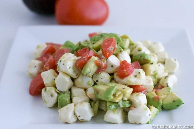 Chopped Caprese Salad Recipe fantabulosity.com