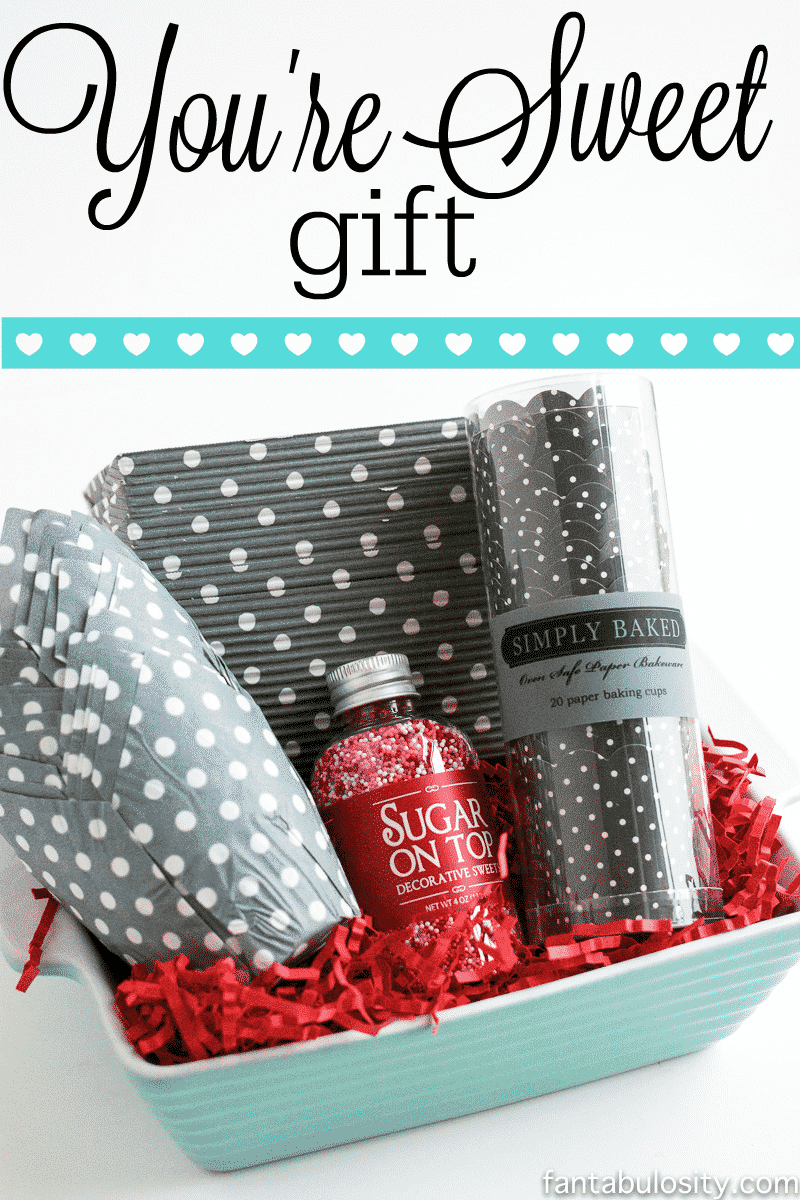 """You're Sweet"" Gift Idea. This is PERFECT for a hostess gift idea, or gift idea for best friend! fantabulosity.com"