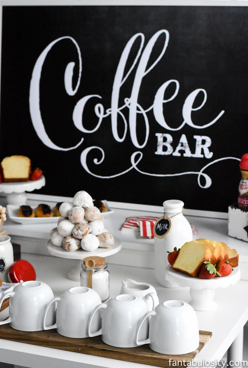 "can SO do this!!! Coffee Bar Party: ""You've Warmed My Heart,"" theme ..."