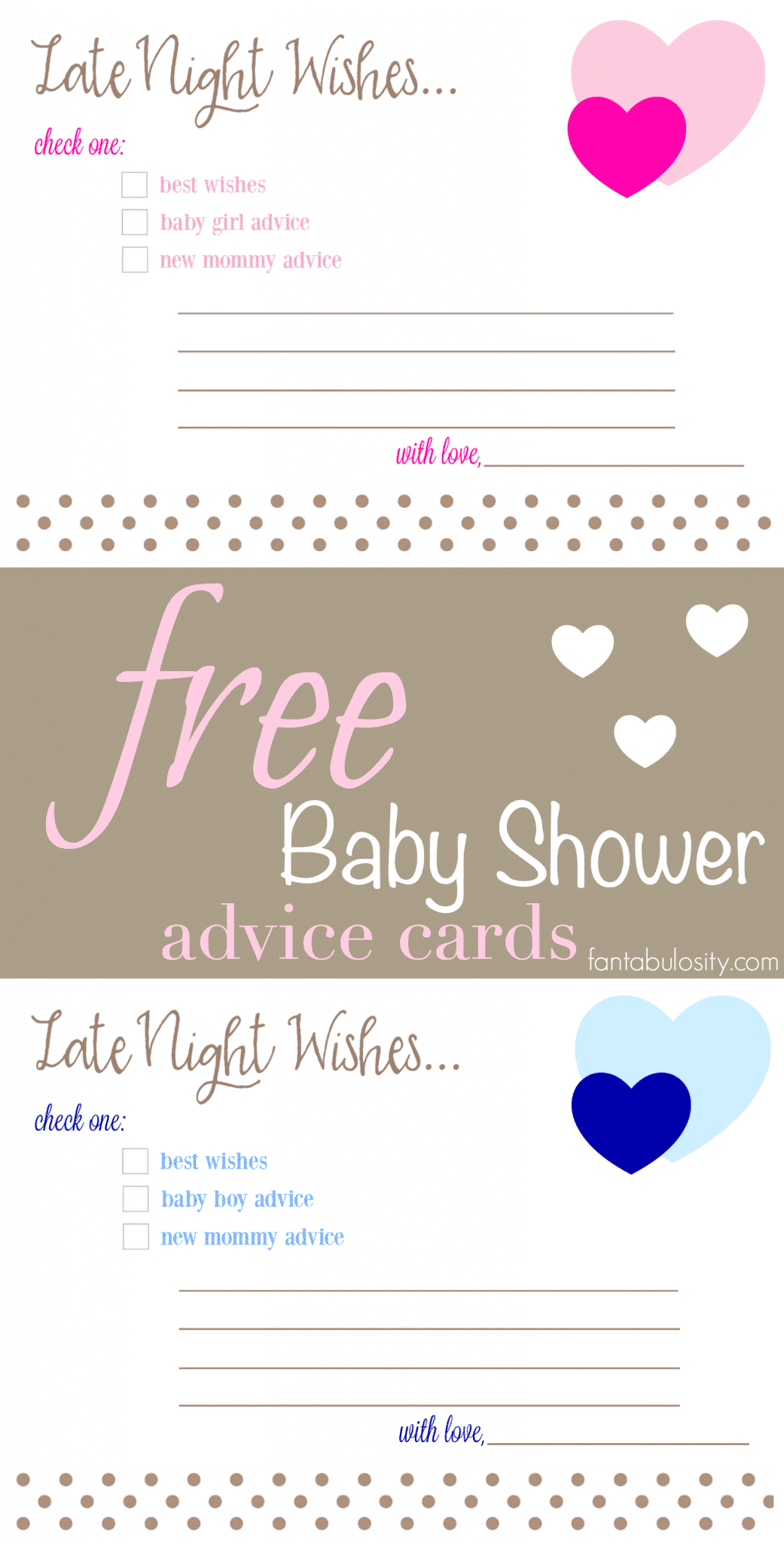 Late night wishes baby shower advice cards fantabulosity for Wishes for baby template printable