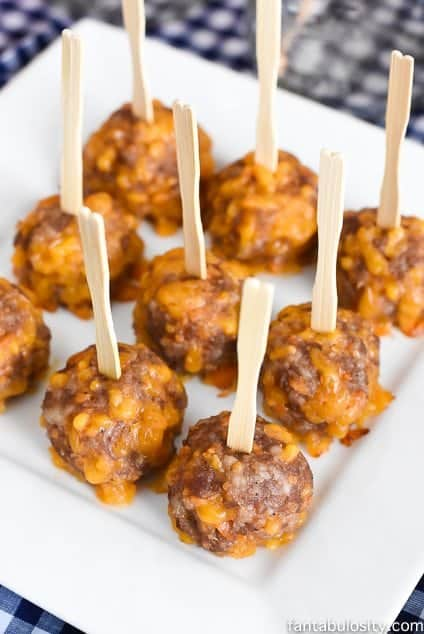 My husband BEGGED me to make these again! Zesty Sausage Bites appetizer idea. fantabulosity.com