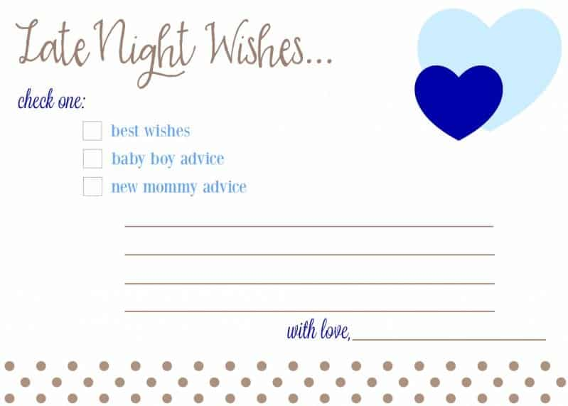 late night wishes baby advice cards for baby shower free download printable boy girl fantabulosity