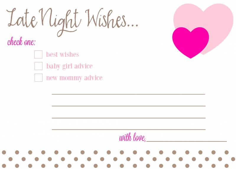 New Mommy Baby Shower Advice Cards for Girl e1457192727594