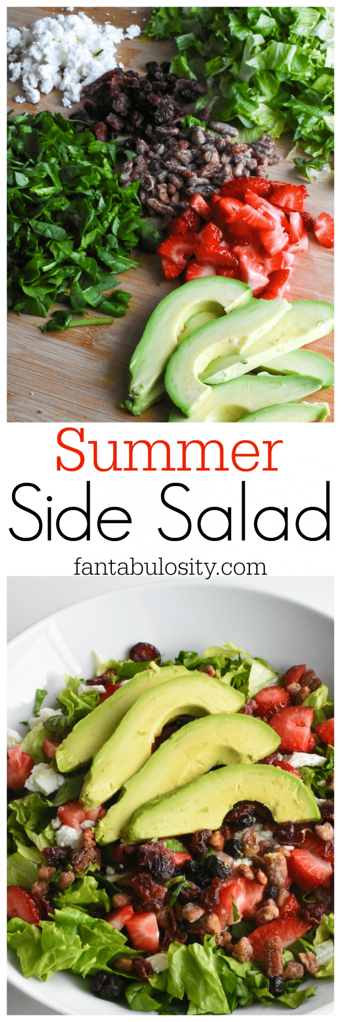 Summer Side Salad Recipe. I'll be taking this to EVERY outing, this year. fantabulosity.com