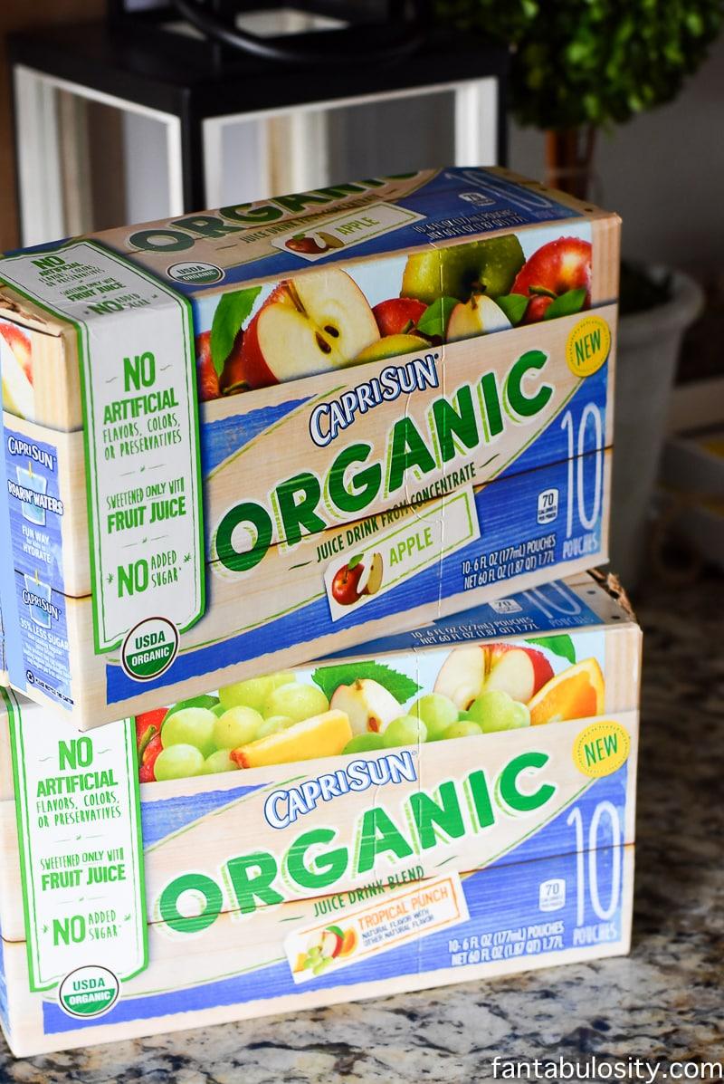 Capri Sun Organic! Healthy Snack Recipe Ideas for Toddlers