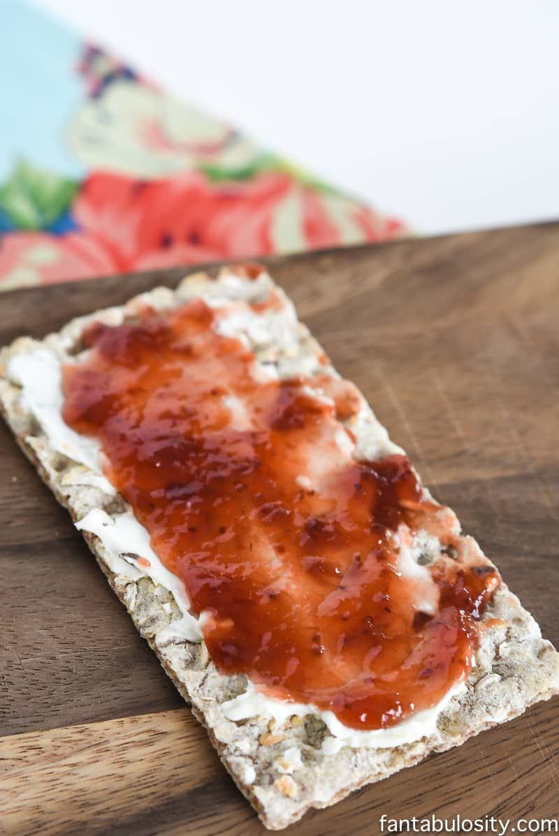 Snack Ideas for Toddlers  Flaxseed Cracker with Cream Cheese and Jam! Healthy Snack Recipe Ideas for Toddlers