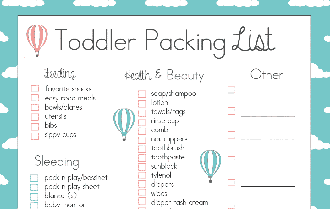 baby travel checklist
