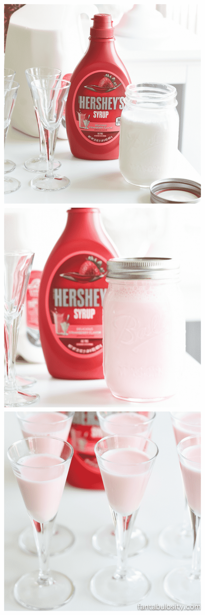 Clink Clink Pink Drink Ideas - Strawberry Milk for a pretty in pink brunch!