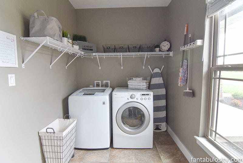 diy laundry room shelving storage ideas fantabulosity