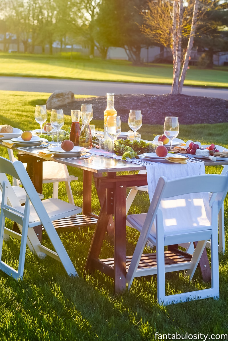pop up backyard dinner party fantabulosity