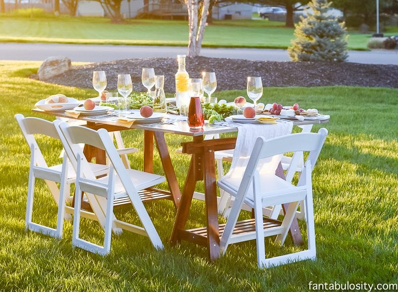 Pop Up Backyard Dinner Party Entertaining Ideas Classy Easy Simple Quick
