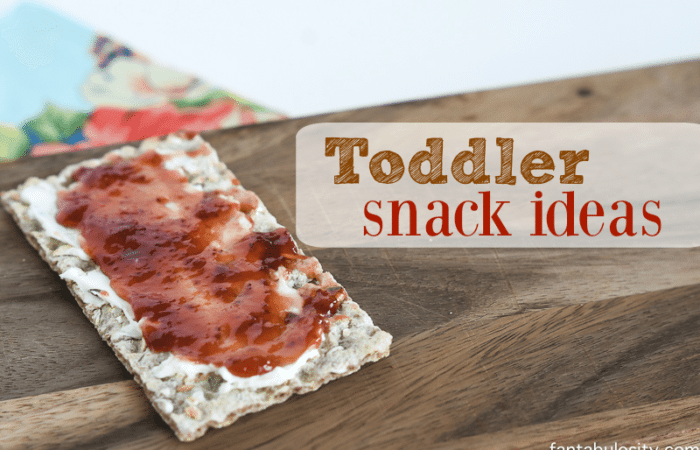 Toddler Snack Ideas - Healthy quick options