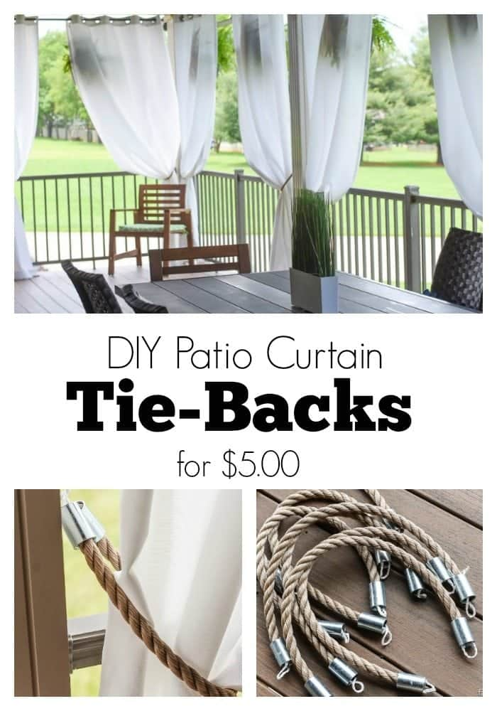 DIY Patio Curtain Tie-Backs
