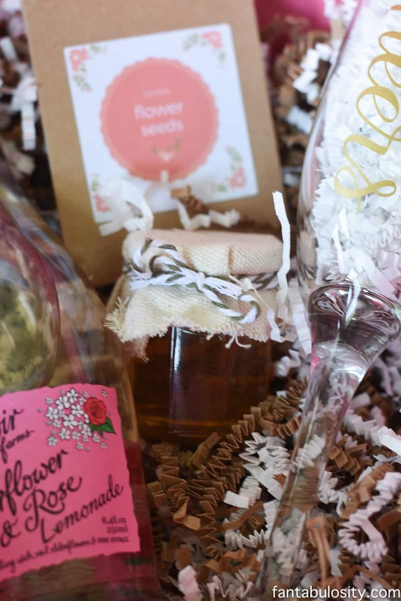 Favorite Things Invitation Ideas - Small jar of honey! How cute
