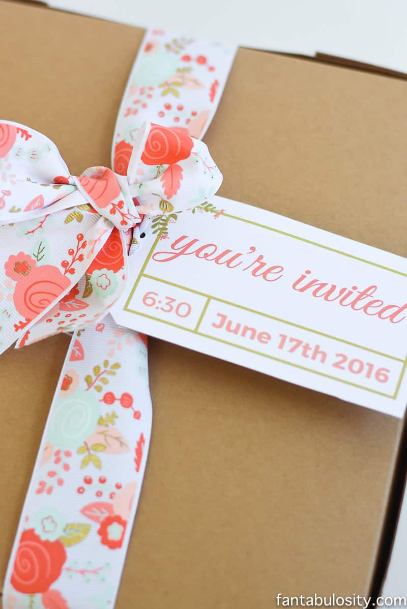 Favorite Things Party Invitation Ideas - Spring/Summer party Hand Delivered Boxed Invitation