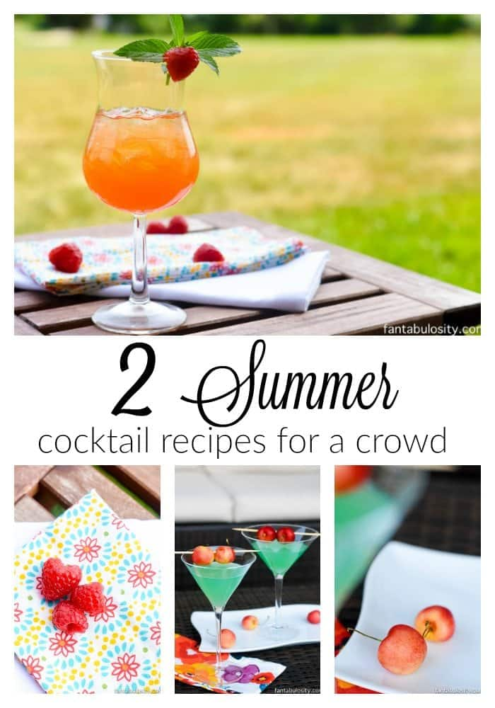 2 Summer Cocktail Recipes for a crowd
