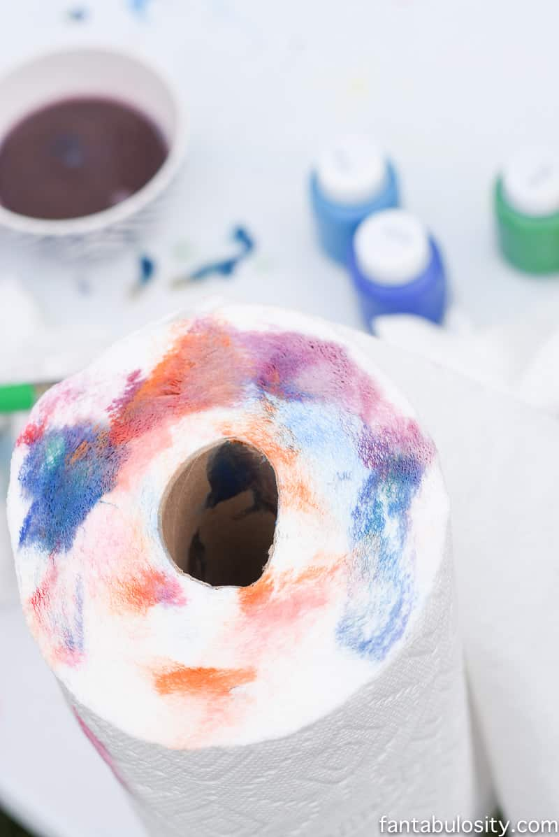 Have a roll of papertowels when fingerpainting outside