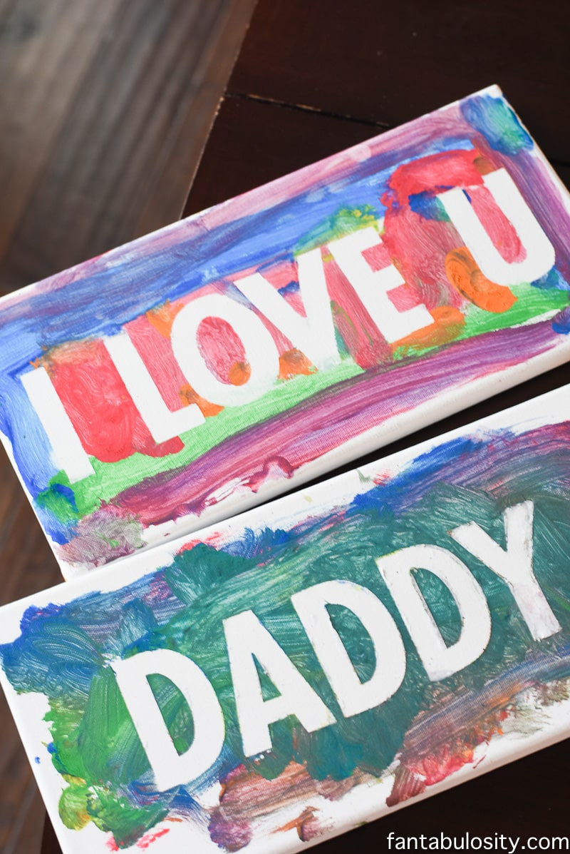 Finger Paint Art - Father's Day
