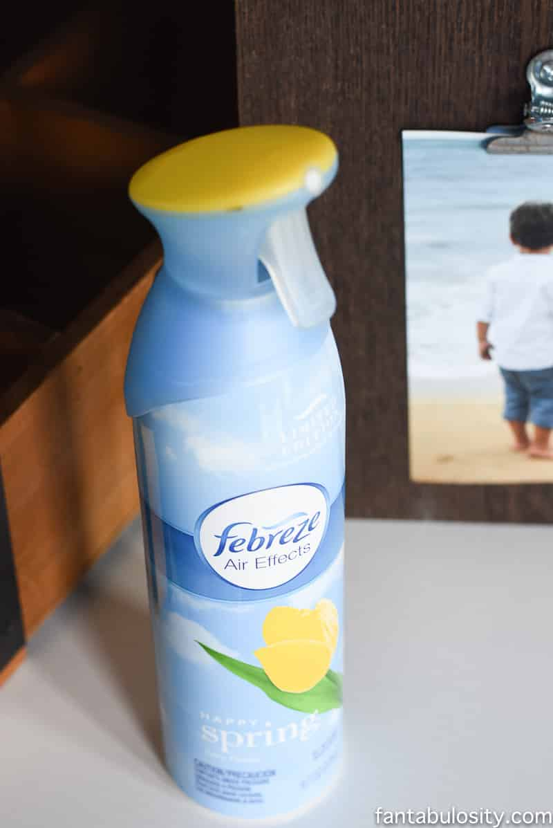 Febreze is my favorite quick smell cover up!