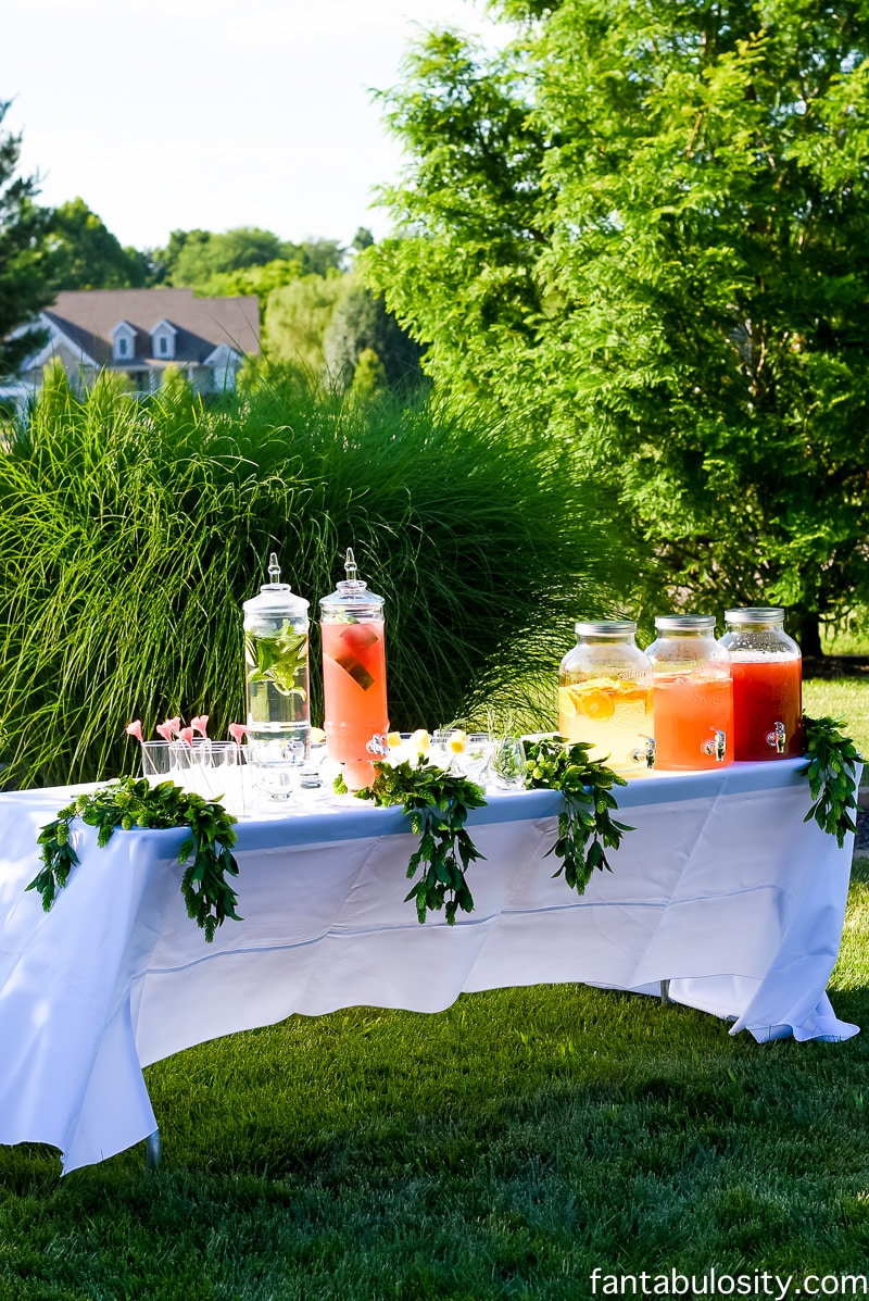 "Drink Station for outdoor party ""Favorite Things Party"""