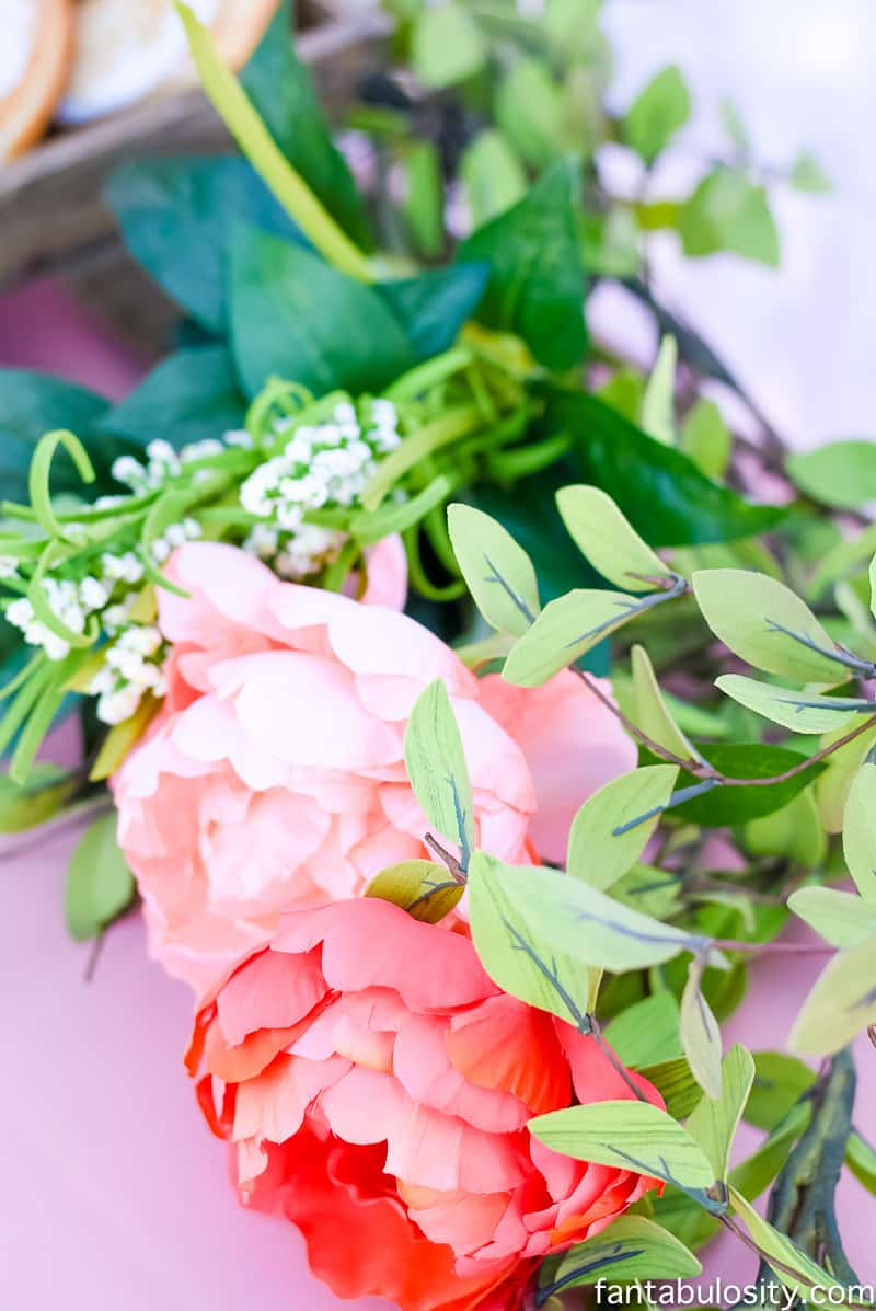 Favorite Things Party Flower decorating; decoration ideas