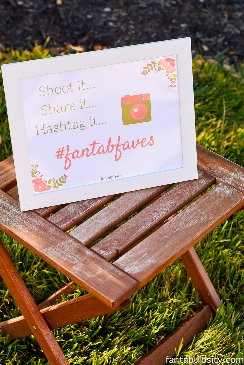 """""""Shoot it, share it, hashtag it..."""" Photo booth idea for outdoor party"""