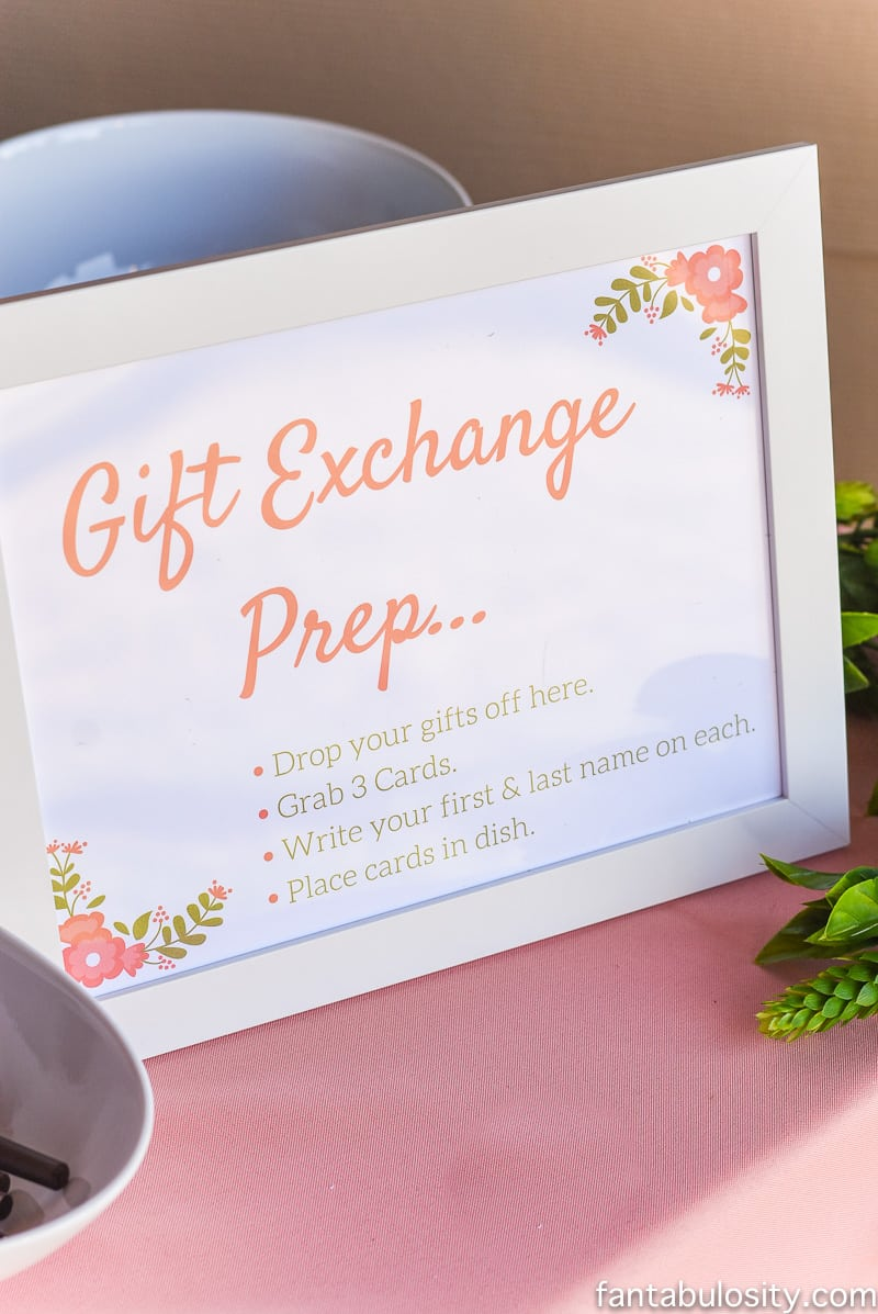 Gift Exchange ideas for Favorite Things Party